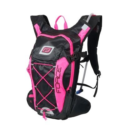 FORCE - batoh  ARON PRO PLUS 10L+2L rez.,černo-růžový