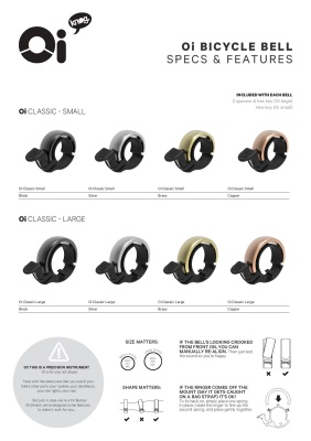 KNOG - Zvonek Oi Bell Classic - Oi Bell Classic Small / Malý Copper