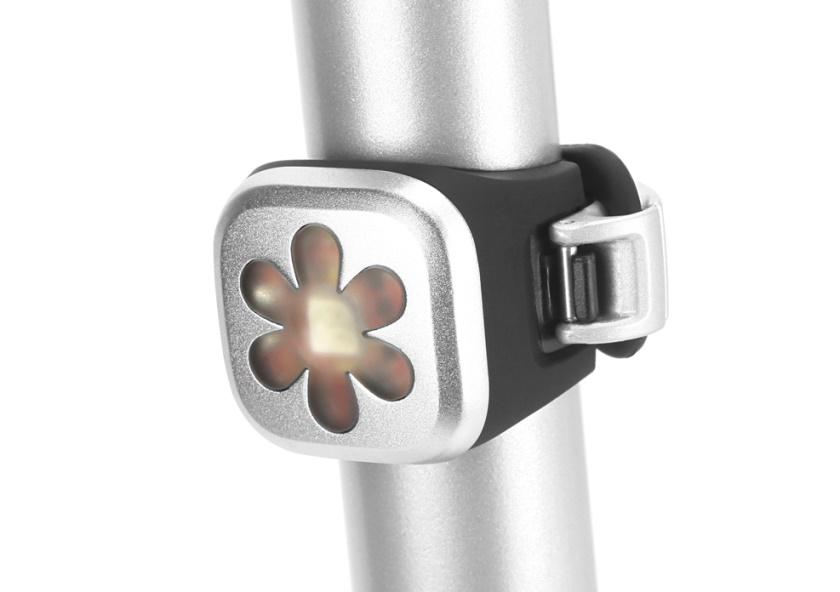 KNOG - blikačka Blinder 1 Flower Silver Zadní