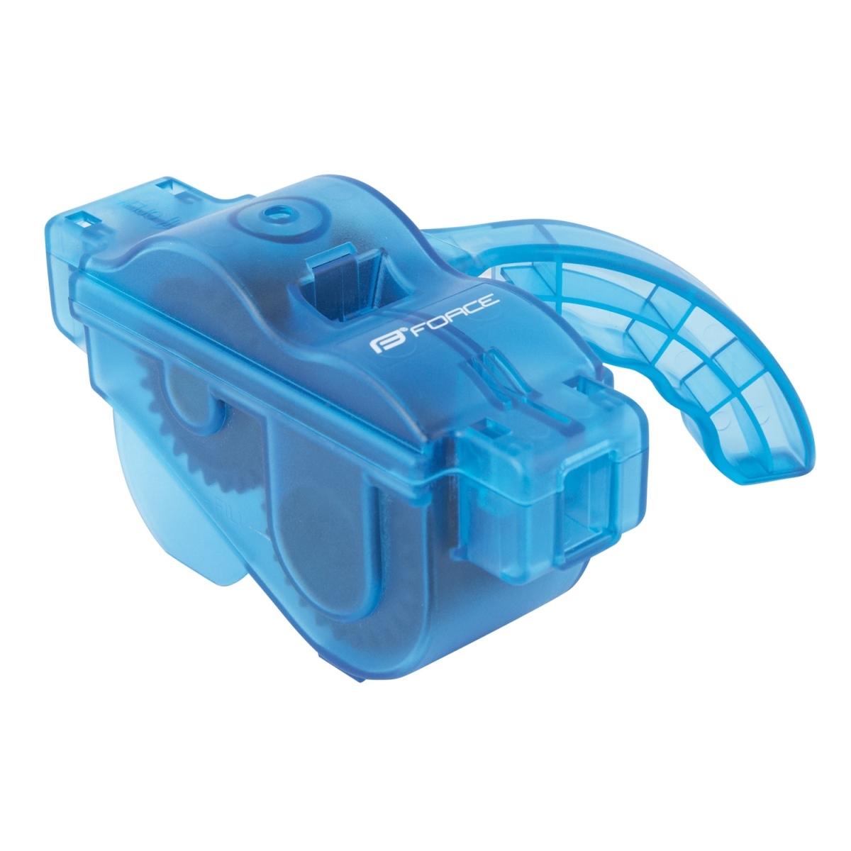 Force čistička řetězů plastová s rukojetí modrá