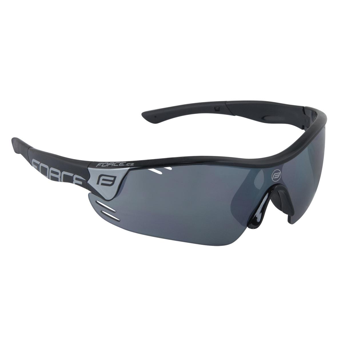Force brýle Race Pro černé, černá laser skla