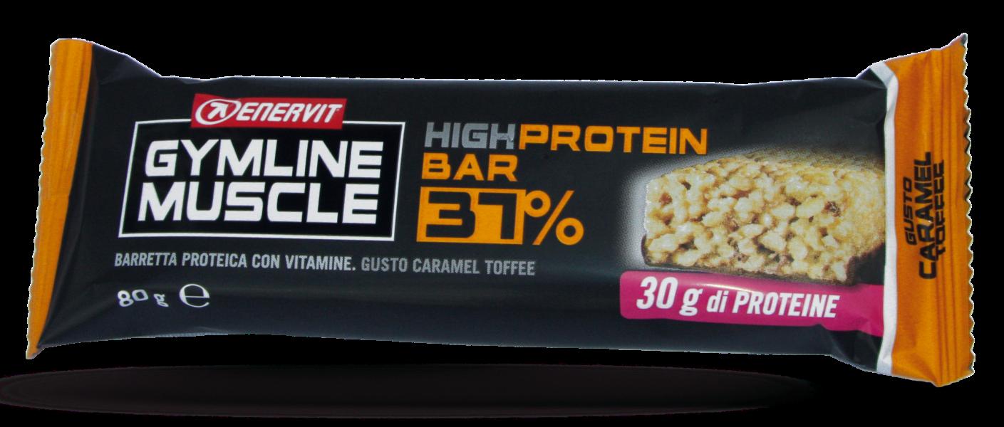 Enervit Gymline protein bar 37% karamel 80g