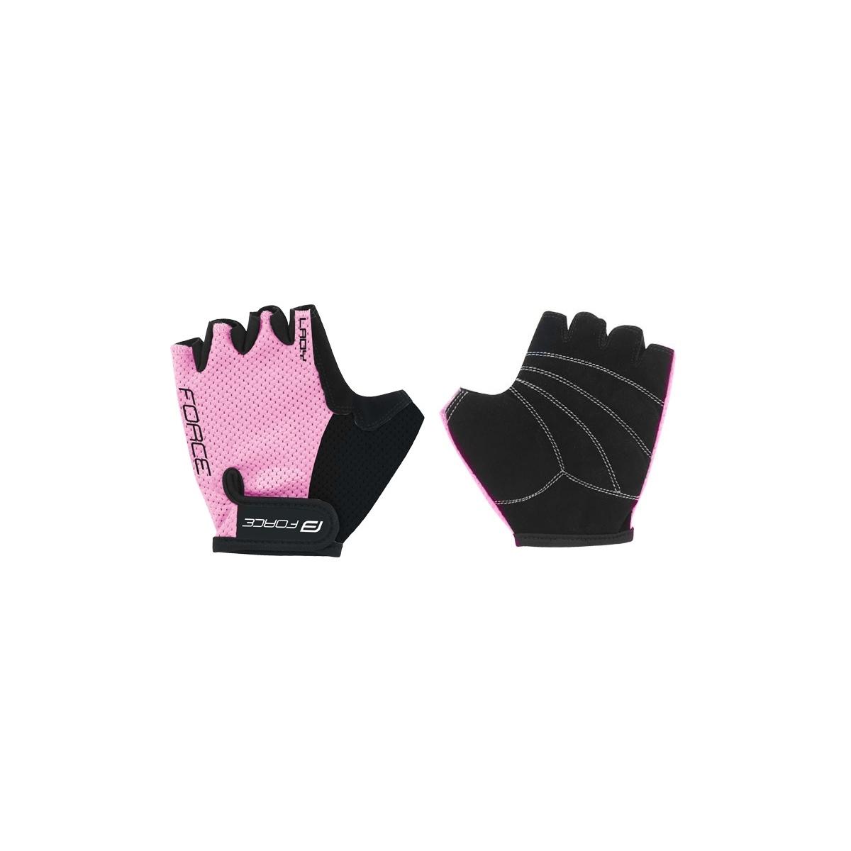 Force rukavice Lady, světle růžové S